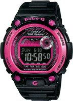【腕時計】カシオBABY-Gスポーツウォッチ20気圧防水レディースデジタル腕時計ブラック黒(BLX-100-1JF)ピンクタイドグラフ月齢・ムーンデータ1/100秒ストップウォッチELライト付きbaby-gランニングウォッチ