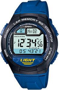 カシオ スポーツウォッチ 10気圧防水 ランニングウォッチ メンズ デジタル 腕時計 ブルー 青 (WSD11AUP-403海外版) 距離計測機能 1/100秒 ストップウォッチ カウントダウンタイマー 60ラップ LED ライト付き ランニングウオッチ カシオ マラソン ランニング 時計