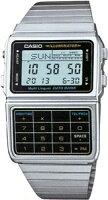 【ランニングウォッチ】カシオデータバンクシルバーデジタル腕時計LEDライト搭載(DBC-611-1JF海外モデル)1/100秒ストップウォッチカシオCASIODATABANKマラソンランニング腕時計ランナーズウォッチ