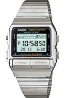 【腕時計】【CASIO】カシオデータバンクシルバーデジタル腕時計(DB-380-1)1/100秒ストップウォッチLEDライト搭載カシオCASIODATABANK海外モデルマラソンランニング腕時計ランナーズウォッチ