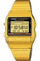 【ランニングウォッチ】カシオデータバンクゴールドデジタル腕時計(DB-380G-1)1/100秒ストップウォッチテレメモ機能搭載カシオCASIO海外限定モデルマラソンランニング腕時計ランナーズウォッチ