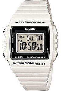 カシオ スポーツウォッチ 5気圧防水 メンズ デジタル 腕時計 おしゃれな ホワイト 白 (W13MYP-105WHT) ストップウォッチ 日付 曜日 カレンダー アラーム LEDライト付き ランニングウォッチ CASIO 海外限定 マラソン ランニング 時計 ランナーズウォッチ