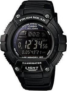 カシオ スポーツウォッチ 10気圧防水 ソーラー デジタル 腕時計 (WSD13AUP-601BLK) 1/100秒スト...