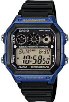 【ランニングウォッチ】カシオスポーツウォッチ10気圧防水腕時計(A14FBP-203BLU)10年電池サッカー対応ストップウォッチ搭載ランニングウォッチカシオCASIO海外モデルマラソンランニングウォッチ時計