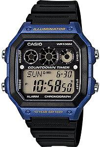 カシオ スポーツウォッチ 10気圧防水 デジタル 腕時計(A14FBP-203BLU) 10年電池 LED...