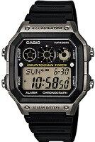 【腕時計】カシオスポーツウォッチ10気圧防水腕時計(A14FBP-205GRY)10年電池サッカー対応ストップウォッチ搭載ランニングウォッチカシオCASIO海外モデルマラソンランニングウォッチ時計