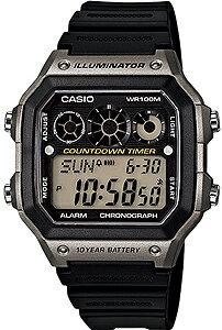カシオ スポーツウォッチ 10気圧防水 デジタル 腕時計(A14FBP-205GRY) 10年電池 LED...