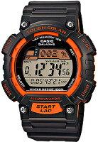【腕時計】カシオスポーツウォッチ10気圧防水ソーラーデジタル腕時計(S14FBP-303ORG)LEDライト1/100秒ストップウォッチ120ラップソーラーランニングウォッチカシオCASIO海外モデルマラソンランニング腕時計