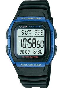 カシオ スポーツウォッチ デジタル 5気圧防水 メンズ 腕時計 ランニングウォッチ (W11P-6505BLU) アラーム カレンダー ストップウォッチ 10年電池 LEDライト付き CASIO 海外限定 マラソン ランニング 時計 ランニングウオッチ