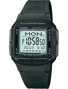 カシオ データバンク スポーツウォッチ 5気圧防水 メンズ デジタル 腕時計 ブラック 黒 (DB09P-4503BLK) ストップウォッチ カウントダウンタイマー 10年電池 LEDライト付き ランニングウォッチ カシオ 海外限定 マラソン ランニング 時計 アウトドアウォッチ