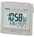 カシオ 電波時計 置時計 デジタル 目覚まし時計 温度 湿度計付き(CL15OC01SLV)日付・曜日 カレンダー アラーム スヌーズ機能 LEDライト付き 大型液晶 カシオ CASIO 電波時計 目覚まし時計