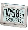 カシオ 電波時計 置時計 デジタル 目覚まし時計 日付・曜日 カレンダー 温度 湿度計搭載(CL15JU01)常時点灯 LEDライト付き 大型液晶 カシオ CASIO 電波時計 目覚まし時計