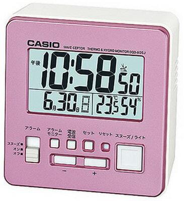 カシオ 電波時計 コンパクト 置時計 デジタル 目覚まし時計 おしゃれな ピンク (CL15JL05PK) スヌーズ アラーム 日付 曜日 カレンダー 温度 湿度計 LED ライト付き 見やすい 大型液晶 静かな トラベルクロック CASIO 小型 電波置き時計 旅行用 目覚まし時計