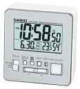 カシオ 電波時計 置時計 デジタル 目覚まし時計 温度 湿度計付き シルバー 銀(CL15JL07SLV)日付 曜日 カレンダー アラーム スヌーズ機能 LED ライト付き カシオ CASIO 電波時計 目覚まし時計