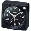 カシオ 電波時計 コンパクト 置時計 アナログ 目覚まし時計 おしゃれな ブラック 黒 (CL15JU30) シンプル 見やすい アラビア数字 アラーム スヌーズ 秒針 音がしない 秒針停止機能 ライト付き CASIO 静かな 小型 電波 置き時計 旅行用 目覚まし時計