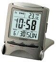 カシオ トラベルクロック コンパクト 置き時計 おしゃれな デジタル 目覚まし時計(SCL16FB18GRY) アラーム 日付 曜日 カレンダー 温度計 EL ライト付き 見やすい 大型液晶 CASIO 旅行用 目覚まし時計