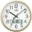 カシオ 電波時計 壁掛け時計 デジタル アナログ 掛け時計 おしゃれなシャンパンゴールド (CL15JU51) 見...