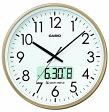 【送料無料】カシオ 電波時計 壁掛け時計 デジタル アナログ 掛け時計 日付・曜日 カレンダー(CL15JU52GLD)アラビア数字 デュアルタイム プログラム時報付き カシオ CASIO 電波時計 掛け時計