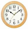 【送料無料】カシオ 電波時計 壁掛け時計 アナログ 掛け時計 アラビア数字(CL15MY03WHT)ホワイト 白 文字板 カシオ CASIO 3針 ANALOG WALL CLOCK 電波時計 掛け時計 おしゃれな白木目調デザイン