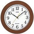 【送料無料】カシオ 電波時計 壁掛け時計 アナログ 掛け時計 アラビア数字 ブラウン 茶(CL15JU57BRW)秒針停止機能 カシオ CASIO 電波時計 掛け時計 おしゃれな木目調デザイン