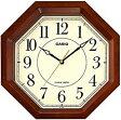 【送料無料】カシオ 電波時計 壁掛け時計 アナログ 掛け時計 アラビア数字 ブラウン 茶(CL15JU58BRW) カシオ CASIO 電波時計 掛け時計 おしゃれな木目調デザイン