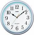 【送料無料】カシオ 電波時計 壁掛け時計 アナログ 掛け時計 アラビア数字 シルバー 銀(CL15JU59SLV)ホワイト 白 文字板 秒針停止機能 カシオ CASIO 3針 ANALOG WALL CLOCK 電波時計 掛け時計