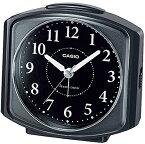 カシオ 電波時計 置時計 アナログ 目覚まし時計 おしゃれな ブラック 黒 見やすい アラビア数字 ホワイト 白(CL15DC01BLK)スヌーズ機能 アラーム 秒針 音がしない 秒針停止機能 ライト付き CASIO 静かな 電波時計 目覚まし時計