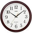 【送料無料】カシオ 電波時計 壁掛け時計 アナログ 掛け時計 ブラウン 茶(CL16JA02BRW)アラビア数字 カシオ CASIO 電波時計 掛け時計