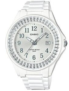 カシオ スポーツウォッチ 5気圧防水 レディース アナログ 腕時計 ホワイト 白 (LH16FBP-1401WHWH) アラビア数字 日付 カレンダー ランニングウォッチ CASIO LADYS ANALOG 海外限定 アウトドア マラソン ランニング 時計