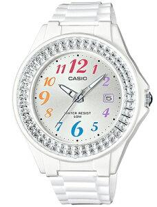 カシオ スポーツウォッチ 5気圧防水 ランニングウォッチ レディース アナログ 腕時計 かわいい ホワイト 白 (LH16FBP-1402WHT) アラビア数字 3針 クォーツ 日付カレンダー CASIO LADYS ANALOG 海外限定 マラソン ランニング 時計 アウトドアウォッチ