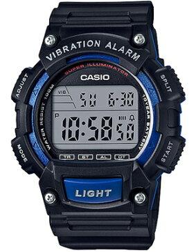カシオ スポーツウォッチ 10気圧防水 メンズ デジタル 腕時計 ブラック 黒(WH16JLP-102BKBU)ブルー 青 バイブ 振動アラーム ストップウォッチ LEDライト付き ランニングウォッチ CASIO 海外限定 マラソン ランニング 時計 ランナー ウォッチ