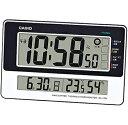 カシオ 電波時計 壁掛け時計 デジタル 掛け時計 おしゃれな ブラック 黒 ホワイト 白 ツートーン (CL16S...