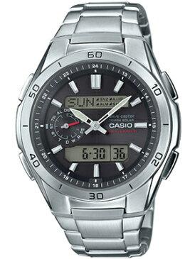 カシオ 電波時計 スポーツウォッチ 10気圧防水 メンズ デジタル アナログ ソーラー電波 腕時計 ブラック 黒(WV15AU01BLK)電波ソーラー 1/100秒ストップウォッチ LEDライト付き ランニングウォッチ カシオ CASIO マラソン ランニング 時計