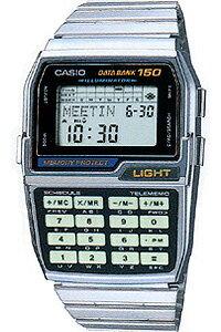 電話番号やスケジュールを150件メモリーする計算機付き腕時計【送料無料】カシオ データバンク ...
