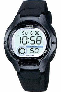 カシオ スポーツウォッチ 5気圧防水 レディース デジタル 腕時計 ブラック 黒 (LW09P-5904BKBK) ストップウォッチ LEDライト付き ランニングウォッチ CASIO 海外限定 アウトドア トレーニング マラソン ランニング 時計