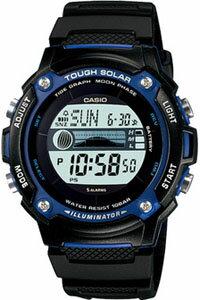 カシオ スポーツウォッチ ランニングウォッチ 10気圧防水 ソーラー デジタル 腕時計 W-S210H-1AJF海外版 タイドグラフ ムーンデータ ストップウォッチ LEDライト付き CASIO 海外限定 マラソン ランニング 時計 ウォッチ