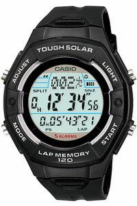 カシオ スポーツウォッチ5気圧防水 レディース ソーラー デジタル 腕時計(SD10AUP-701BLK)ブラック 黒 120ラップ ストップウォッチ カウントダウンタイマー LEDライト付き ランニングウォッチ CASIO マラソン ランニング 時計