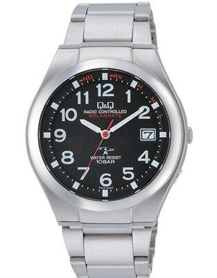 シチズン 電波時計 スポーツウォッチ 10気圧防水 メンズ ソーラー アナログ 腕時計 ドレスウォッチ メタル ステンレスバンド(HGBQ15-002BLK)電波ソーラー 日付 カレンダー マラソン ランニング 時計 ドレスウォッチ 腕時計