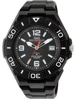 シチズン 電波時計 スポーツウォッチ 10気圧防水 メンズ ソーラー アナログ 腕時計 ダイバーズ ブラック 黒(HGBQ13-002BLK)回転ベゼル 日付 カレンダー 電波ソーラー アウトドア マラソン ランニング 時計 ダイバーズウォッチ