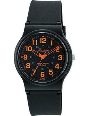 シチズン スポーツウォッチ 10気圧防水 メンズ アナログ 腕時計 ブラック 黒(CBQ17A-013BKOR)オレンジ アラビア数字 24時間表示 ランニングウォッチ Q&Q MENS ANALOG マラソン ランニング 時計 アウトドアウォッチ