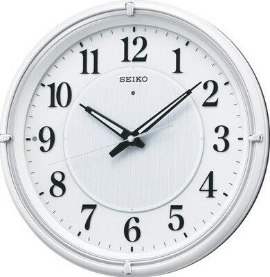 壁掛け時計 電波時計 アナログ 掛け時計 おしゃれな ホワイト 白 文字盤 アラビア数字 見やすい ライト付き セイコー SEIKO 秒針の音がしない 連続秒針 電波掛け時計 静かな ウォールクロック (SCW17-P2004)
