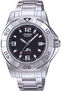 カシオ スポーツウォッチ 20気圧防水 メンズ アナログ 腕時計 ダイバーズ メタル ステンレスバンド(SD7MR33)逆回転防止ベゼル スクリューバック ねじロック式リューズ 日付 カレンダー CASIO マラソン ランニング 時計 ダイバーズウォッチ