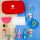 おもちゃ医者セットおもちゃ15点セット医療キットおもちゃ誕生日プレゼント出産祝いお医者さんごっこケース付グレー/レッド
