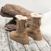 レディース靴ブーツシューズスノーブーツミッドブーツハイヒールウェッジソールカジュアルシューズインヒール防寒美脚厚底滑止め暖かいふわふわカジュアルオシャレプレゼント
