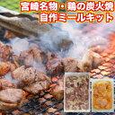 バーベキューセット(bbq/BBQ) キャンプ飯 bbq 食材 セット 肉 焼き鳥 鶏の炭火焼き(炭火焼/鳥の炭火焼き/炭火焼き鳥/焼鳥)を作る1kgセット 手作り (やきとり/焼鳥/国産焼鳥 /ヤキトリ) 国産 送料無料 宮崎名物 冷凍 焼肉 食品 鶏肉 チキン ミールキット コロナ 応援 焼き肉