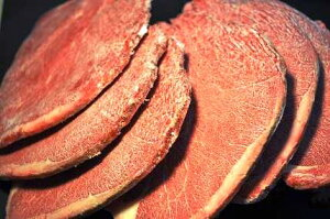 【冷凍品】カナダ産 馬肉スライス (ロイン) 1Kg ※冷凍バラ凍結です ペット 生食 馬肉【冷凍...