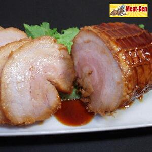送料無料 江戸っ子焼豚1本350gお肉屋さんの手造り 豚バラ焼豚ブロックチャーシュー 焼豚 焼き豚 やきぶた ラーメンチャーシュー