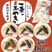 【冷凍】一茶のそばおやき5種各120g×1個セット(あずき、くるみ、野沢菜、切干、なす)保冷袋入り信州おやき信州芽吹堂