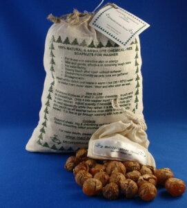 木の実がそのまま洗剤に!使ったあとは自然に還るので100%地球にやさしい。ウールやシルクもOK...