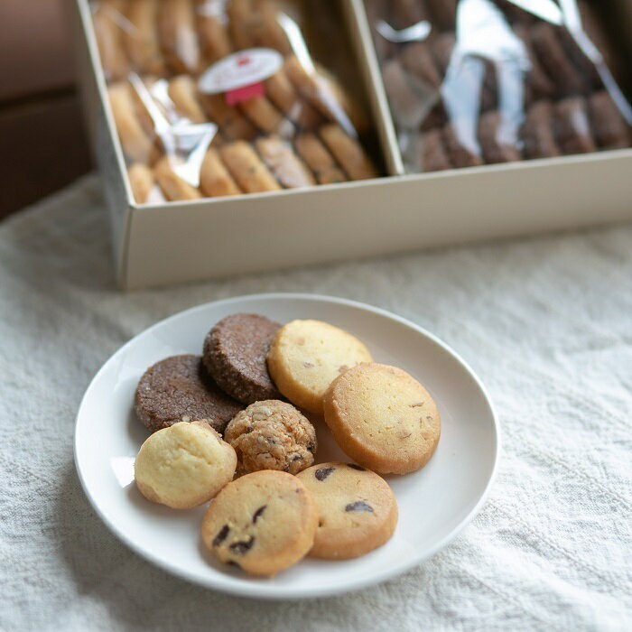 クッキーセットL(100枚以上 合計550g) 夏季ポイント10倍!(〜8/31) 手作り クッキー詰め合わせ 6種類入り お中元 贈り物 ギフト プレゼント お返し お祝い 焼き菓子 手土産  香典返し のし チョコチップ アンザックス ショコビッセン アーモンド ごま オレンジ